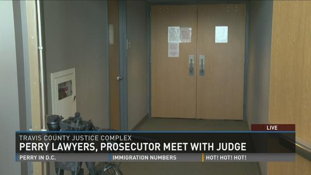 Perry lawyers meet with judge