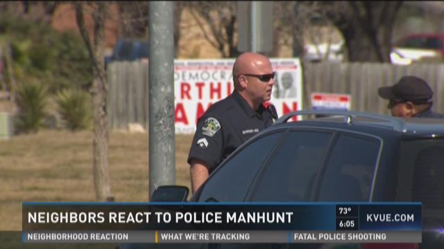 Neighbors react to central east Austin manhunt