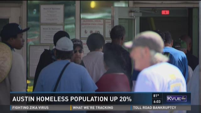 Austin homeless population up 20 percent | KVUE.com