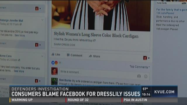 Does Facebook play a role in DressLily complaints?