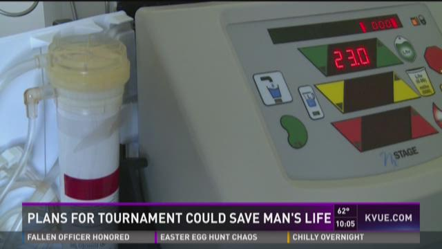 Plans for tournament could save man's life