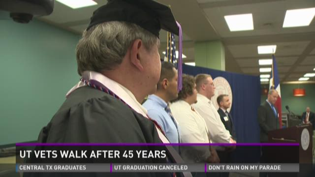 UT vets walk after 45 years