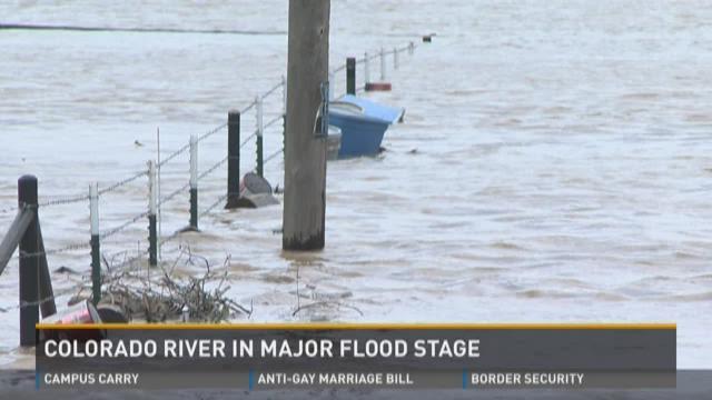Colorado River in major flood stage