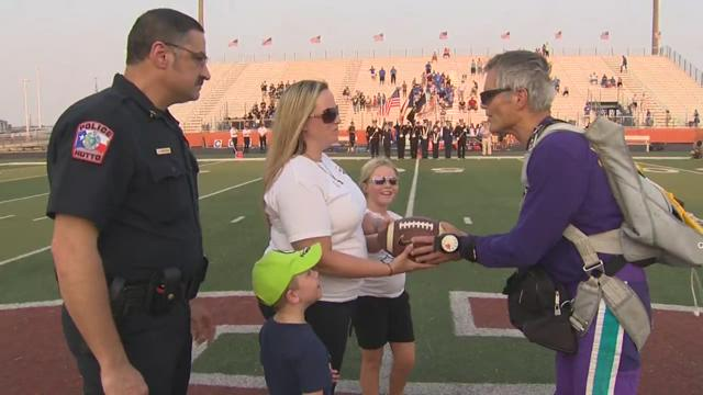 Hutto honors heroes in big way at football game