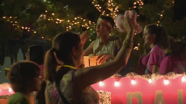 AUSTIN -- Austinites put the pride in Pride Festival with rainbows, bright makeup and short shorts Saturday night in Downtown Austin.