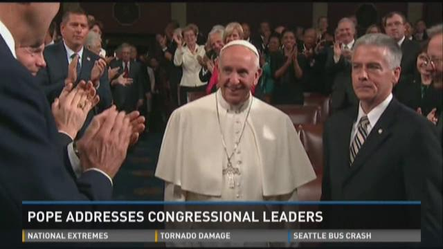 Pope addresses congressional leaders