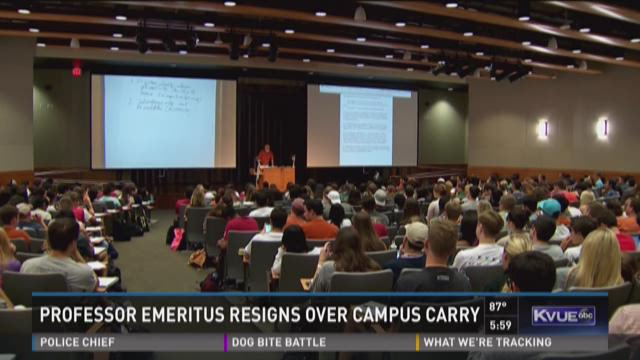 UT economics professor quits over campus carry concerns
