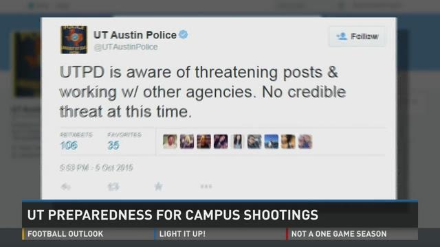 UT Preparedness for Campus Shootings